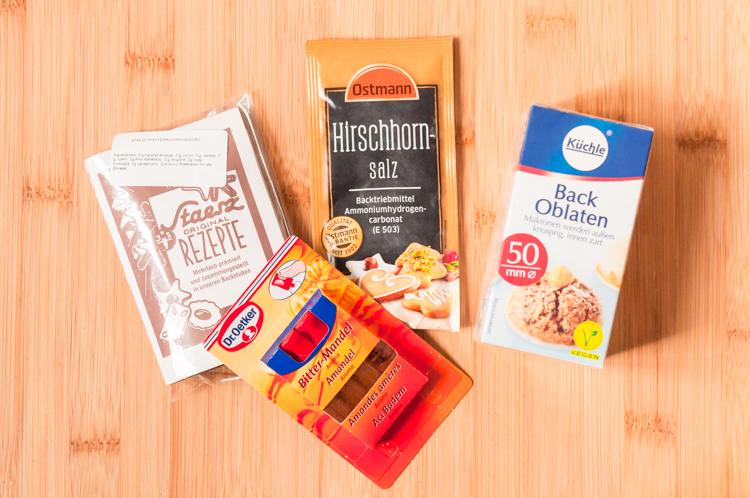 Ingredientes para Lebkuchen