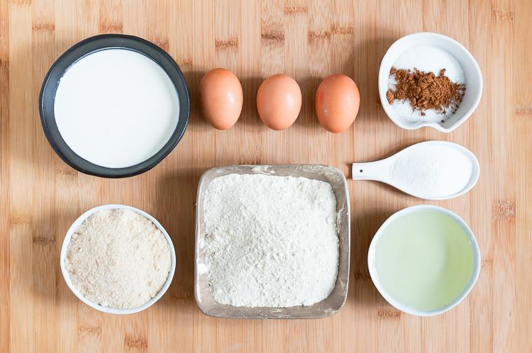 Ingredientes para un bizcocho de castaña.