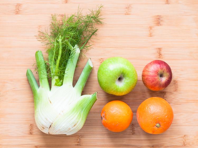 Ingredientes para ensalada de hinojo